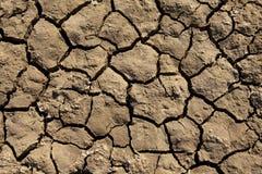 Deep Mud Cracks Background Stock Photography