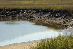 Deep mud and peat of Blackbeard Creek, Harris Neck, Georgia. Stock Image