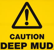 Deep Mud Warning Sign Royalty Free Stock Photo