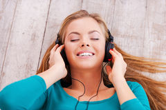Deep in music. Royalty Free Stock Images