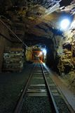 Old Uranium mine. Deep in the old uranium mine, the city of Jachymov in the Czech Republic Royalty Free Stock Photo