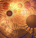 Deep orange space Stock Images