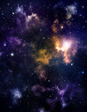 Deep outer space background with stars Stock Image