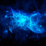 Deep outer space. Background with stars and nebula vector illustration