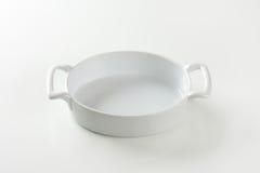 Deep oval porcelain baker Royalty Free Stock Image
