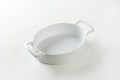 Deep oval porcelain baker Royalty Free Stock Photos