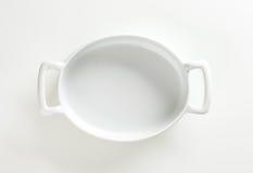Deep oval porcelain baker Stock Photography