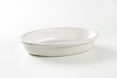 Deep oval porcelain baker Stock Photos