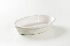 Deep oval porcelain baker Stock Photo