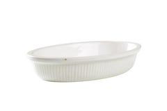 Deep oval porcelain dish Stock Images
