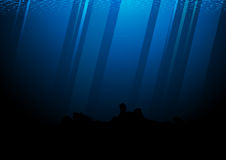 Deep of pacific ocean vector illustration Stock Photos