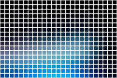 Deep and pale blue abstract rounded mosaic background over white Stock Photography