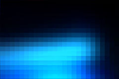 Deep and pale blue mosaic square tiles background Royalty Free Stock Images