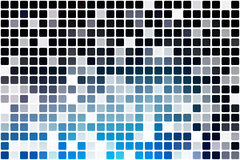 Deep and pale blue occasional opacity mosaic over white Royalty Free Stock Photos