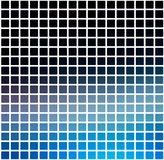 Deep and pale blue rounded mosaic background over white square Royalty Free Stock Photos