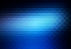 Deep and pale blue rows of triangles background Stock Images