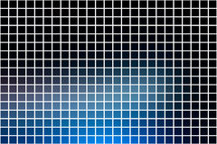 Deep and pale blue square mosaic background over white Royalty Free Stock Photography