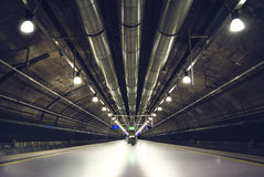 Deep perspective of metro station in Oslo royalty free stock images