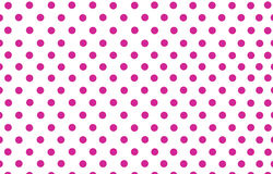 The deep pink polka dot with white background Stock Image