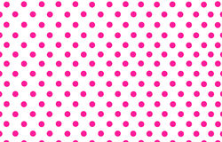 Deep pink polka dot with white background Royalty Free Stock Photography