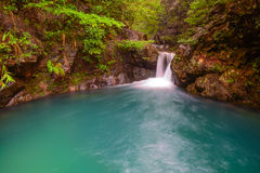 Deep pool of streams and waterfalls Royalty Free Stock Photography