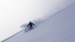 Deep powder skiing in Japan Stock Images