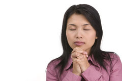 Deep in pray Stock Image