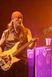 Deep Purple performs on stage during thier concert in Minsk, Belarus on March 27, 2011 Stock Photography