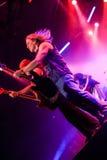 Deep Purple se realiza en etapa durante su concierto en Minsk, Bielorrusia el 27 de marzo de 2011 Fotografía de archivo libre de regalías