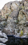 Deep quarry and river Stock Image