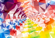 Deep Rainbow polygonal background. triangles. colors of rainbow. Royalty Free Stock Photos