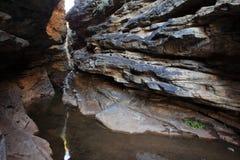 Deep ravine in the Caatinga landscape of Brazil. A Deep ravine in the Caatinga landscape of Brazil Stock Photos