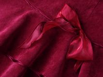 Deep red bow Royalty Free Stock Photography