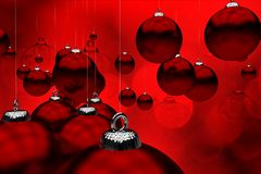 Deep Red Christmas Stock Photos