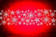 Christmas background in deep red and white Royalty Free Stock Photo