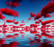 Deep Red Clouds Stock Photography