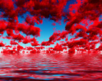 Deep Red Clouds Royalty Free Stock Images