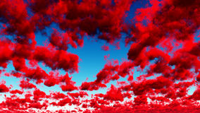 Deep Red Clouds Stock Images
