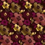 Deep red color decorative seamless pattern Royalty Free Stock Photography