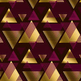 Deep red color decorative seamless pattern Stock Photos