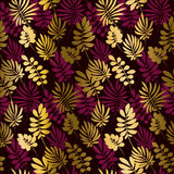 Deep red color decorative seamless pattern Royalty Free Stock Photo