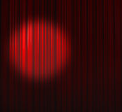 Deep Red Curtain With Small Spot Left Stock Photos