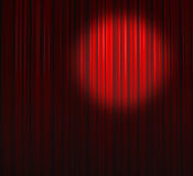 Deep Red Curtain With Small Spot Top Right Stock Image