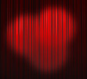 Deep Red Curtain With Three Spots Royalty Free Stock Photography