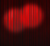 Deep Red Curtain With Two Small Spots Stock Photography