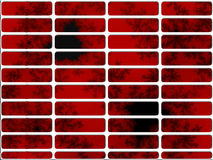 Deep Red Fractal Website Nav Buttons Royalty Free Stock Photo
