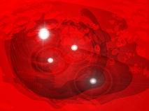 Deep Red Lights Royalty Free Stock Images