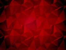 Deep red low poly style abstract background Royalty Free Stock Images
