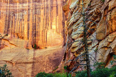 Deep red and orange cliffs Royalty Free Stock Images