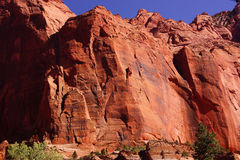Deep red and orange cliffs Stock Photos